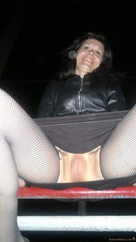 Brunette Russian Young Wife Caught Upskirt Pussy