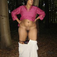 Indian Wife Undressing Pussy in the Woods
