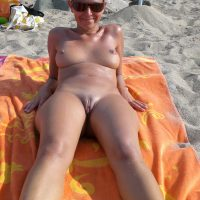 Italian Nudist Woman on Beach