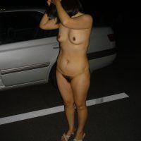 Japanese Wife Caught Naked in the parking lot