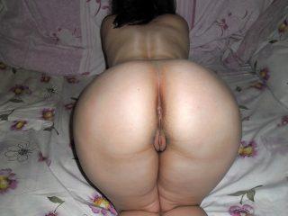 Round Big Kazakhstani Woman Naked Ass Pussy