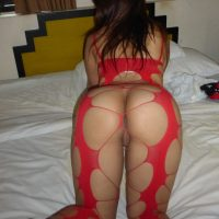 Sexy Thai Girlfriend Butt Pussy Peek on all fours with Lingerie