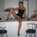 Thin Finnish Young Wife Hairy Pussy in Kitchen