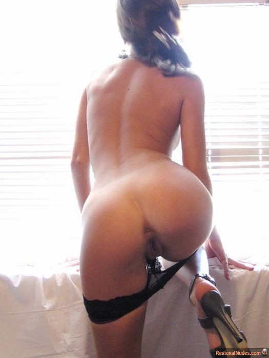 Sexy girl big butt nude bent over right!