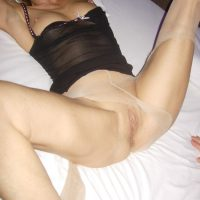 Belgian Slim Hot Mature Wife Exposing Vulva and Breasts