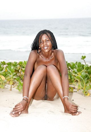 Eritrean Nudist Girl Pussy on Beach