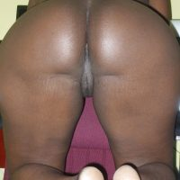 Naked Ebony North American Trinidadian Ass & Pussy