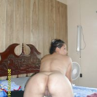 Nude Nicaraguan Wife on all fours