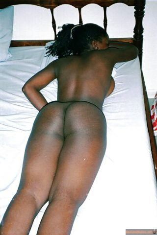 Nude Zambian Girl Butt Laying on Belly