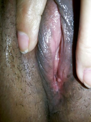 Up-Close Wet Namibian Vagina Spreading