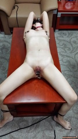 Skinny Naked Chinese Slave Slut