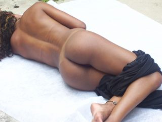 Fit Venezuelan Brown Girl Naked from Behind