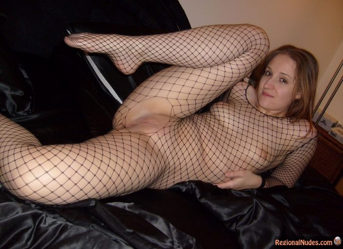 Austrian Girl Showing Shaved Pussy with Seethrough body stockings