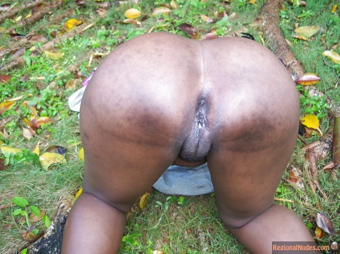 Naked Big Mature Black Bottom from Ghana
