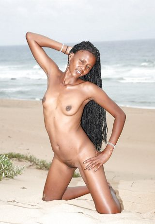 Eritrean Girl Posing on the Beach