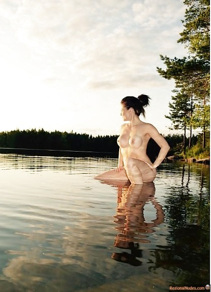 Nude Finnish Girl in Finland's Nature