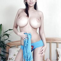 Topless Beautiful Egyptian Girl with Huge Breasts